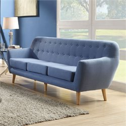 ACME Furniture Ngaio Linen Sofa in Blue