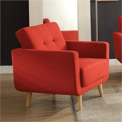 ACME Furniture Sisilla Linen Chair in Red