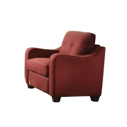 ACME Furniture Cleavon II Linen Chair in Red