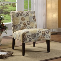 ACME Furniture Aberly Fabric Accent Chair in Multi-color and Espresso