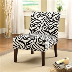 ACME Furniture Aberly Fabric Accent Chair in Black White and Espresso