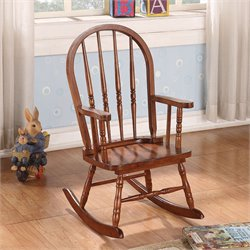 ACME Furniture Kloris Youth Rocking Chair in Tobacco