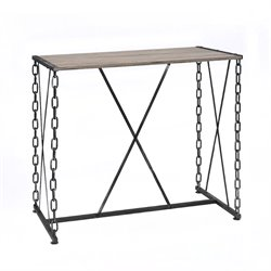 ACME Furniture Jodie Bar Table in Rustic Oak and Antique Black