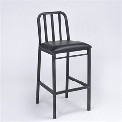 ACME Furniture Jodie Bar Stool in Black and Antique Black (Set of 2)