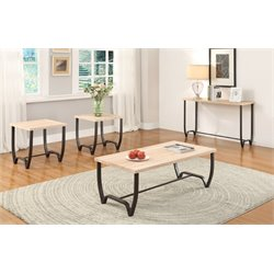 ACME Furniture Isidore 3 Piece End Table Set in Brown Sand