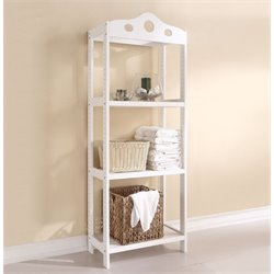 ACME Furniture Sarila 3 Shelf Bookcase in White