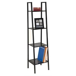 ACME Furniture Eason 4 Shelf Narrow Bookcase in Black