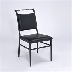 ACME Furniture Jodie Chair in Black and Antique Black