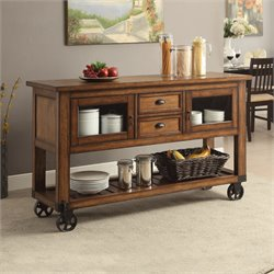 ACME Furniture Kadri Kitchen Cart in Distress Chestnut