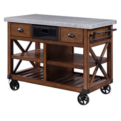 ACME Furniture Kailey Kitchen Cart in Antique Oak