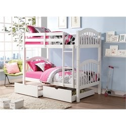 ACME Heartland Twin over Twin Bunk Bed in White