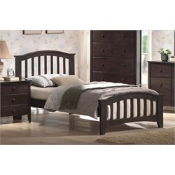 ACME San Marino Full Slat Bed in Dark Walnut