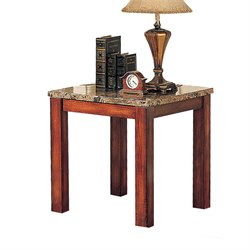 ACME Bologna End Table in Brown and Cherry