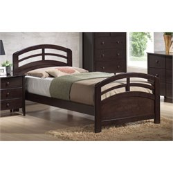 ACME San Marino Panel Bed in Dark Walnut