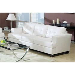 ACME Platinum Leather Sofa-SH1