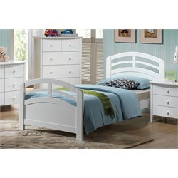 ACME San Marino Twin Panel Bed in White