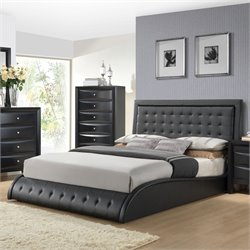 ACME Tirrel Queen Panel Bed in Black