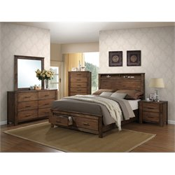 ACME Merrilee Queen Storage Bed in Oak
