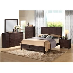 ACME Racie Queen Panel Bed in Merlot