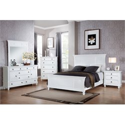 ACME Merivale Queen Panel Bed in White