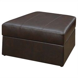 ACME Furniture Spokane Leather Storage Ottoman in Brown