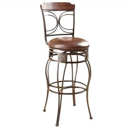 ACME Furniture Tavio 29 Inch Swivel Bar Stool in Gold Brush (Set of 2)