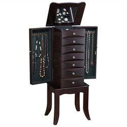 ACME Furniture Teresa Jewelry Armoire in Java