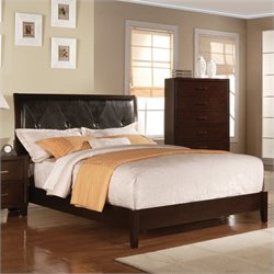 ACME Furniture Tyler Upholstered Bed in Cappuccino