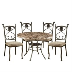 ACME Furniture Kleef 5 Piece Dining Set in Brown