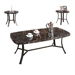 ACME Furniture Daisy 3 Piece Table Set in Black