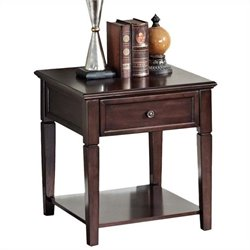 ACME Furniture Malachi End Table in Walnut