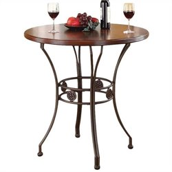 ACME Furniture Tavio Bar Height Table in Walnut and Dark Bronze