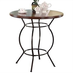 ACME Furniture Tavio Bar Height Table in Dark Bronze