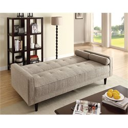 ACME Edana Adjustable Sofa in Sand Linen