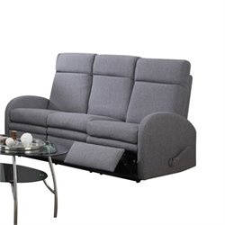 ACME Azura Linen Reclining Sofa with Motion in Gray