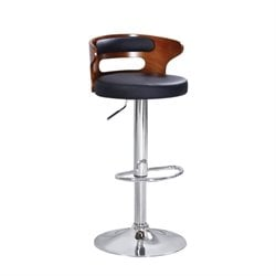 ACME Declan Swivel Adjustable Bar Stool in Black (Set of 2)