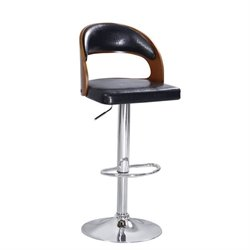 ACME Matt Swivel Adjustable Bar Stool in Black (Set of 2)