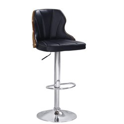 ACME Dicky Swivel Adjustable Bar Stool in Black (Set of 2)