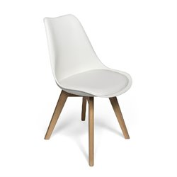 AEON Furniture Celine Dining Chair in White (Set of 2)