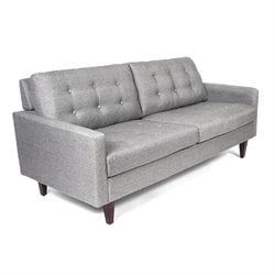 AEON Furniture Sandy Upholstered Loveseat in Gray