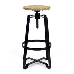 AEON Furniture Hamilton Adjustable Bar Stool in Black