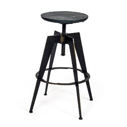 AEON Furniture Harry Adjustable Bar Stool in Antique Copper