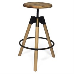 AEON Furniture Henry Adjustable Bar Stool in Antique Copper