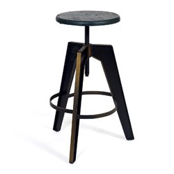 AEON Furniture Horace Adjustable Bar Stool in Antique Copper