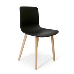 AEON Furniture Vana Dining Chair in Black and Natural (Set of 2)