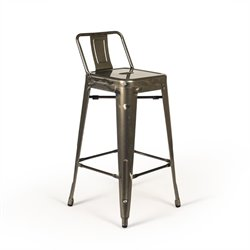 AE3704 Rondo Stool in Gunmetal