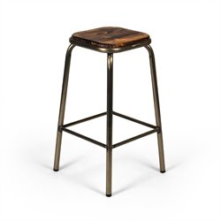 AE3710 Gander Stool in Gunmetal