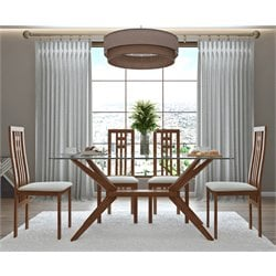 AEON Furniture Greenwich Dining Set in Walnut