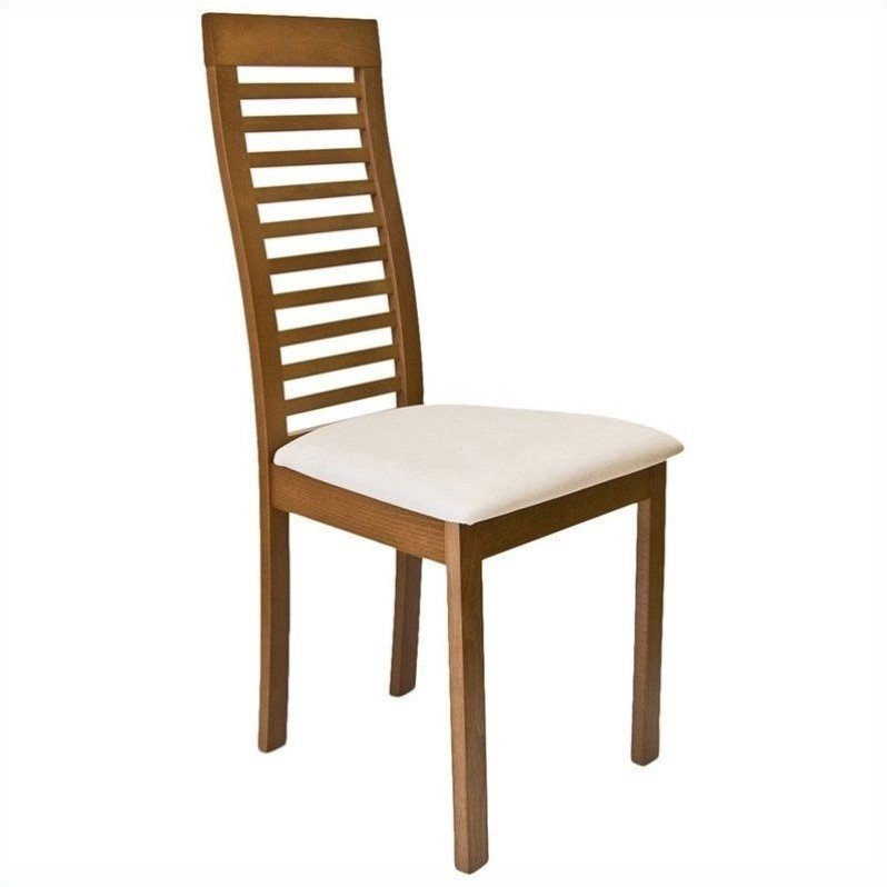 Aeon Furniture Denver Dining Chair In Walnut And Cream