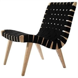 AEON Fabric Weave Lounge Chair in Black